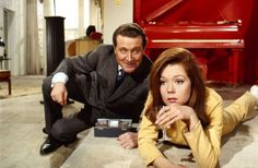 John Steed (Patrick Macnee) and Emma Peel (Diana Rigg) in The Avengers (1965 to 1968)