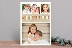 Making Spirits Bright Christmas Photo Cards by annie clark at minted.com