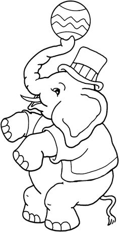 boy elephant free printable coloring pages