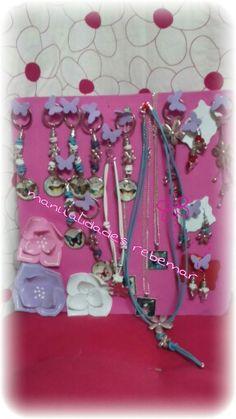 Llaberos mariposas,colgantes y pendientes