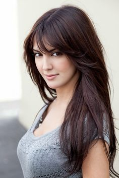 10 Super Ideas of Full Fringe Hairstyles Only for You Is it true that you are a full periphery hairdo sweetheart? scanning for something best thoughts for it. at that point, 10 Super Ideas of Full Fringe Hairstyles are sitting tight, which was out if your Long Hair With Bangs, Haircuts For Long Hair, Long Hair Cuts, Thin Hair, Full Fringe Long Hair, Long Layers With Bangs, Thick Coarse Hair, Hair Bangs, Full Fringe Hairstyles