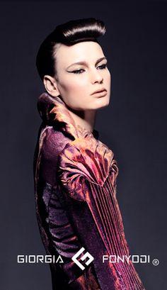 giorgia fonyodi - tucks - a work of art Pattern Drafting, Fabric Manipulation, Fabric Art, Costume Design, High Fashion, Pattern Design, Knitwear, Pin Up, Cool Outfits