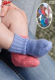 91750 Babysockor med Stretch pattern by Järbo Garn Baby Hats Knitting, Baby Knitting Patterns, Knitting Socks, Baby Patterns, Kids Socks, Baby Socks, Baby Booties Free Pattern, Baby Barn, Newborn Outfits