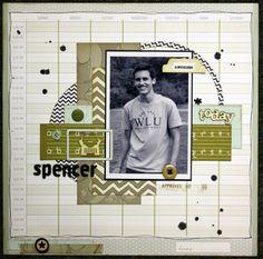 Boy scrapbook page layout