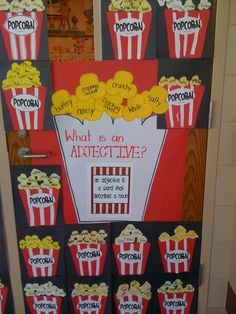 Adjectives; could label with different kinds and have students interact by putting into correct adjective bin