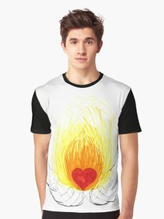 Graphic T-Shirt - Love fire in my hands. #graphictshirt #graphicteeshirt #tshirt #teeshirt #fashion #apparel #clothing #love #fire #hands #onfire #give #faith #light #heat #warm #openmind #spirituality #heart #deep