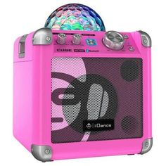 Britelite - iDance BC-100 PK Sing Cube Bluetooth Karaoke System with Built-in Light Show (Pink) - Walmart.com
