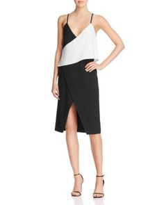 Finders Keepers Hold Us Color Block Slip Dress | Bloomingdale's