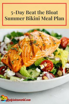 Every summer, we make goals to have that beach bikini body. And with summer fast approaching, we are planning on getting into that bikini. In today's post, we've outlined our Beat the Bloat healthy 5 days eating meal plan.  via @https://www.pinterest.com/pkjulesworld/
