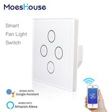 Wifi Smart Ceiling Fan Light Wall Switch Smart Life Tuya App