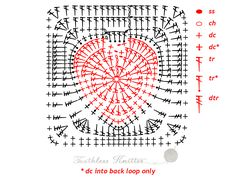 Granny Squares i Motywy: Serce / Granny Squares and Motifs: Heart