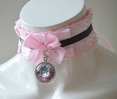 Kittenplay collar - Laced dragon - ddlg princess lolita kitten play petplay daddy kink choker for boy or girl - costume cosplay necklace