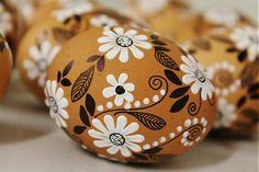 maramanufaktura / prírodné kraslice - /biely kvet /