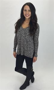 Junky Trunk Boutique. James Sweater tee. Lightweight sweater with v-neck and slit on sides! adorable relax fit!