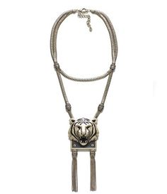 Tiger head chain necklace. ZARA $25.90