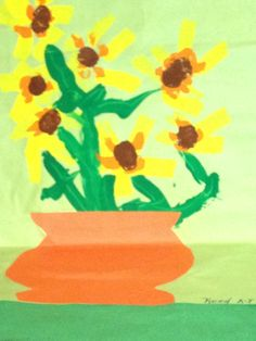 A picture of flowers made by Reed, 6 years old • Art My Kid Made #kidart