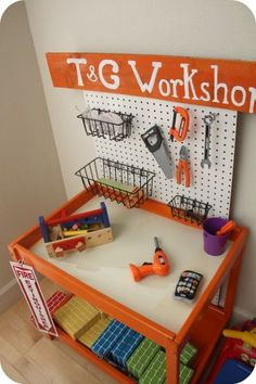 Reuse Changing Table | …create a work bench for Dylan in his playroom