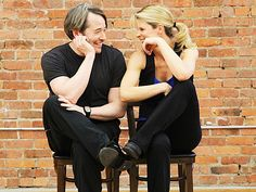 Matthew Broderick and Kelli O'Hara of NICE WORK IF YOU CAN GET IT