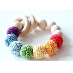 Custom Rainbow Baby Teething Toy Bracelet Teething Baby Rattles Teether