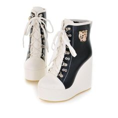 Wedge Ankle Boots, High Heel Boots, Black Ankle Boots, Shoe Boots, Shoes Heels, Boot Wedges, Platform Boots, High Heels, Top Shoes