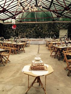 Vintage wedding reception in the Old Stables