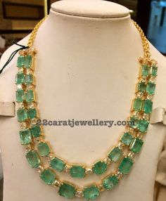 Emerald Two Layer Set - Jewellery Designs