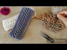 Banda/Diadema en Punto Flecha a Crochet, Hearband - YouTube