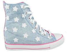 Daddy's Money Tennis Shoes   Skechers Women's Daddys Money Gimme Starry Sky BLUE PINK