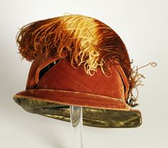 Woman's cloche   United States, 1925   Materials: silk velvet, lamé, ostrich feather   Los Angeles County Museum of Art, LACMA