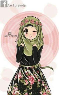 Gambar Kartun Wanita Muslimah 2017 Kartun Muslim In 2018 Anime