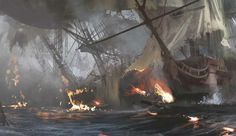 """Chaotic sea battles — always fun to do,"" says Deschambault."
