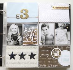 Project Life 2013 | Intro Page by Ali Edwards. Still my favorite scrapbooker because she is a STORYTELLER, in both words AND imagery.