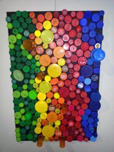 Diy Bottle Cap Crafts 336503403410507749 - bottle-caps-artwork bottle-caps-artwork Source by mmaraux Bottle Top Art, Bottle Top Crafts, Bottle Cap Projects, Diy Bottle, Bottle Caps, Plastic Bottle Tops, Plastic Bottle Crafts, Recycled Art Projects, Upcycled Crafts