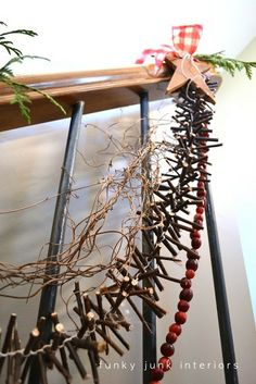 How to make a twig garland