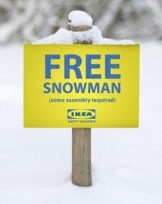 free snowman!