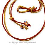 Rust and Gold Leather Necklace from James Avery
