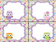 diapositiva1 Owl Classroom, Classroom Decor, Vintage Scrapbook, Baby Scrapbook, Owl Name Tags, Cute Images For Wallpaper, Cute Winnie The Pooh, Imagenes My Little Pony, Owl Birthday Parties