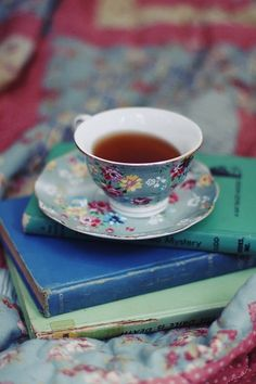 || Just My Cup of Tea || Tea and books. #tea
