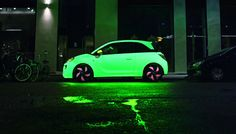 """With the launch of the new cool Opel ADAM, Opel has reached out to the young """"hipsters"""" in town by placing the car in the heart of Copenhagen, near some Street Marketing, Guerilla Marketing, Types Of Painting, Car Painting, Buick, Inside Out Project, Opel Adam, City Car, Tecno"""