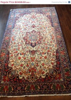 Item 2142,  Rare Persian Bidjar Rug, 8'1 x 4'7
