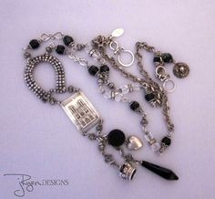 Vintage Repurposed Paris France Charm Necklace - One of a Kind Designs - JryenDesigns Follow me on Facebook: https://www.facebook.com/JRyenDesigns