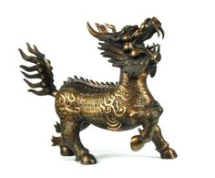 Qi'lin, sometimes called the Chinese unicorn. Known Japan as Kirin.