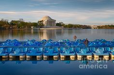 A photo of the Jefferson Memorial in spring with paddle boats in the foreground. This is a copyrighted photo. If you wish to purchase this photo or any other of my fine art prints, please visit my website at; http://jerryfornarotto.artistwebsites.com/