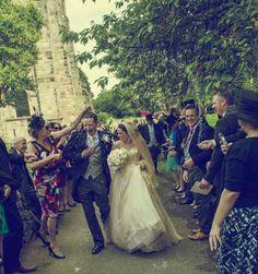Our beautiful couple Eniko & Jonathan. Eniko wearing her #bespoke Lyn Ashworth by Sarah Barrett #wedding #dress contact  www.lynashworth.co.uk info@lynashworth.co.uk