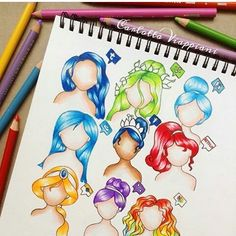 Social media hairstyles by @tottadraws comment your favorite one…