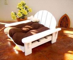 My guys need this for the lake  Pet Adirondack Bed/Chair for your Dog or Cat by BigCreekMercantile, 65.00.