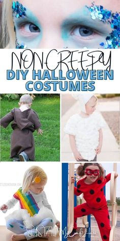 No matter what your plans are this year, we've compiled this list of non-creepy DIY Halloween costumes for adults and kids. #sustainmycrafthabit Modern Halloween, Diy Halloween Costumes For Women, Diy Halloween Costumes For Kids, Halloween Crafts For Kids, Cute Halloween, Adult Costumes, Halloween Ideas, Owl Costume Kids, Jessie Costumes