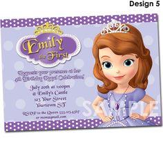 Sofia the First Birthday Invitation by KidsPartyPrintables