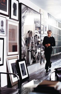 Use crisp Brilliant White from Ralph Lauren Paint, then layer your favorite art pieces to create the perfect gallery wall.