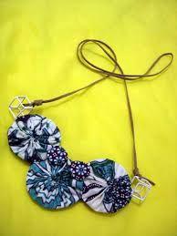 Hasil gambar untuk cara membuat kalung dari kain perca